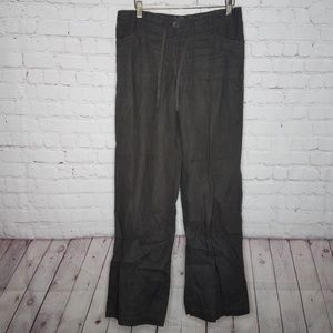 Avanti Pure Linen Brown Pants